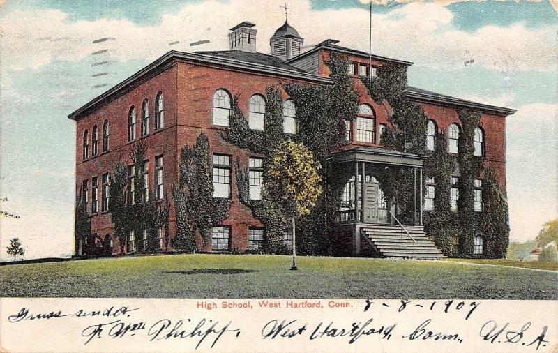 USA Conn. West Hartford High School 1907