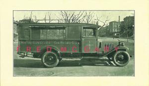 1928 San Pedro Sula Honduras Postcard: Mision Evangelica School Bus - Rare