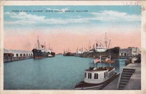 Alabama Mobile Piers A And B Alabama State Docks 1923