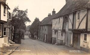 Chilham High Street Village Houses real photo