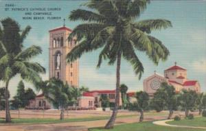 Florida Miami Beach St Parick's Catholic Church and Campanile