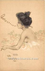 Artist Raphael Kirchner Old Vintage Postcard Edit. E Storch Vienne. VT. La Fa...