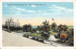 Memphis Tennessee Post Office Confederate Park Antique Postcard J55831