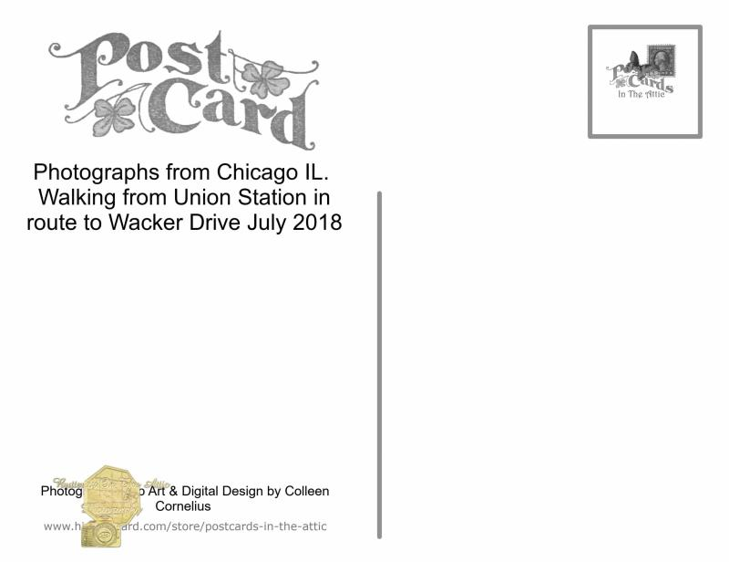 New Postcard National Postcard Week 2019 Big Letter Chicago Illinois Windy City