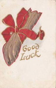 Good Luck, Rabbit's foot wrapped in red bow, PU-1908