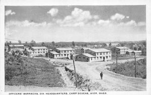 Ayer Massachusetts~Camp Devens-Officers Barracks~Divistion HQ~Man in Street~'20s