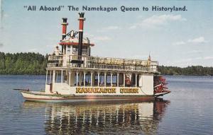 All Aboard The Namekagon Queen to Historyland,  Hayward,  Wisconsin,  40-60s