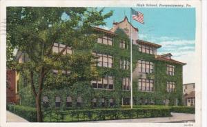 Pennsylvania Punxsutawney High School 1940 Curteich