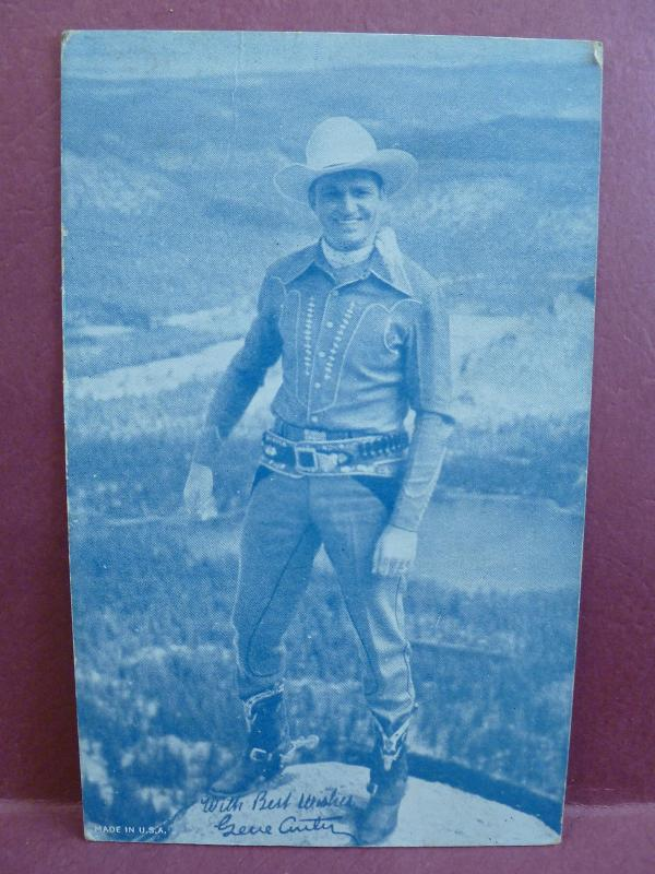 (lt) Old Arcade Card:  Gene Autry