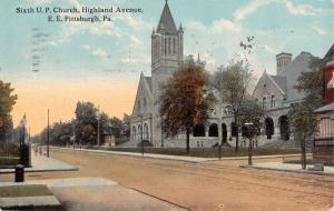 Pittsburgh Pennsylvania Sixth U P Church Highland Ave Antique Postcard K13677