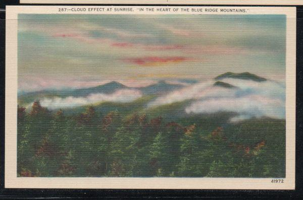 Linen colour PC Cloud Effect at Sunrise in the  Blue Ridge Mountains unused