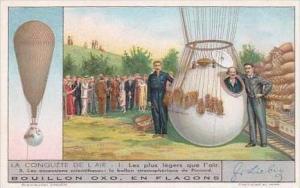 Liebig Trade Card S1313 Conquest Air I No 3 Les ascensions scientifiques Piccard