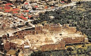 Baalbek, Lebanon Postcard, Carte Postale General view of Baalbeck and the Rui...