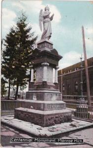 Michigan Monroe Centennial Monument 1910