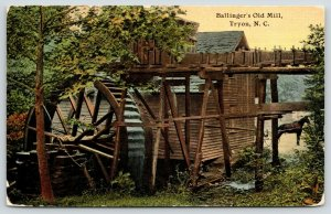 Tryon North Carolina~Ballinger's Old Mill~Water Wheel~Horse Buggy in Front~c1910