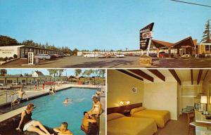 Ellsworth Maine Brookside Motel Multiview Vintage Postcard K101094