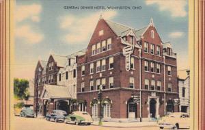 WILMINGTON, Ohio, 1930-1940's; General Denver Hotel, Classic Cars