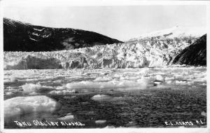 Juneau Alaska~Taku Glacier~1934 EC Adams #1 Real Photo Postcard~RPPC