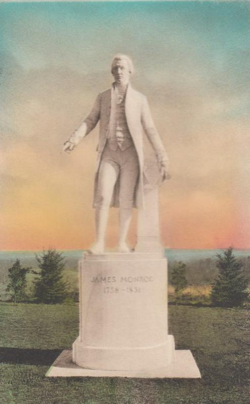 ASH LAWN , Virginia , 00-10s ; Statue of President James Monroe