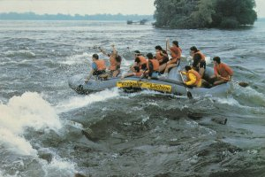 MONTREAL, Quebec, 1986 ; White Water Rafting on Lachine Rapids