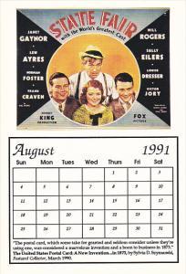 1991 Movie Poster Calendar Series August State Fair
