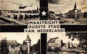 Netherlands Maastricht Oudste Stad Van Nederland Bridge Markt Stadhuis Postcard