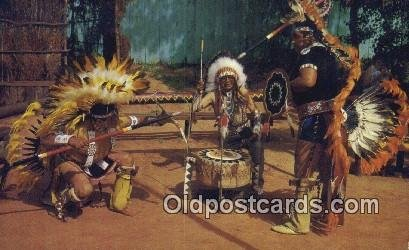 Shield Dancers, Swift Hawk, Spotted Horse Indian Postcard, Post Card Otoe Mis...