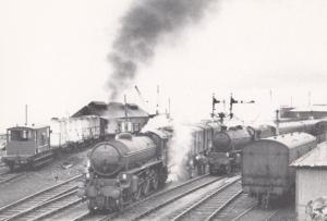 Engine 61261 62034 Highlands Train at Mallaig Scottish Station Railway Postcard