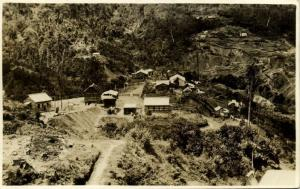 papua new guinea, KAINDI near Wau, Panorama Edie Creek (1920s) RPPC