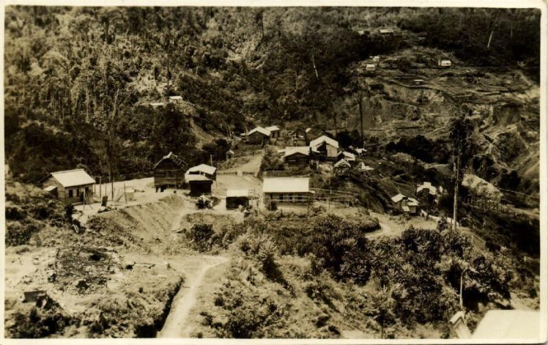 papua new guinea, KAINDI near Wau, Panorama Edie Creek (1920s) RPPC