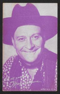 ARCADE CARD Cowboy Entertainer Max Terhune