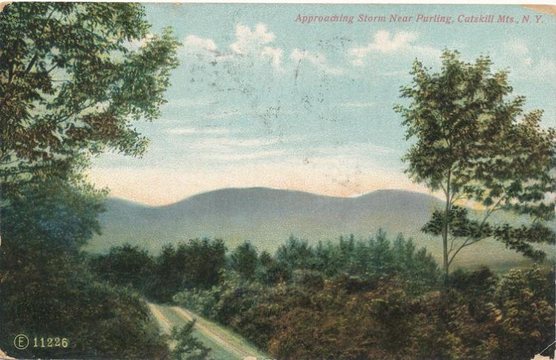 Approaching Storm near Purling - Catskill Mountains NY, New York - pm 1908 - DB