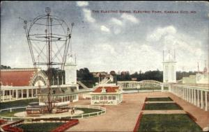 Kansas City MO Electric Park Swing c1910 Postcard
