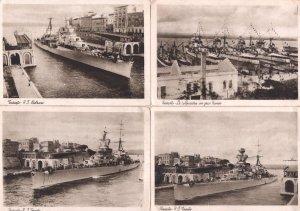 Taranto 4x Ship Boats Antique Italian Postcard s