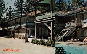 VILLA MONTREUX Bijou CA Hwy 50 Roadside Motel LAKE TAHOE c1960s Vintage Postcard