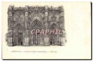 Old Postcard Abbeville Portal L & # 39Eglise Saint Vulfran