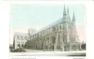 Winchester, the Cathedral from North West, early 1900s