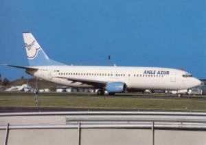 AIGLE AZUR, Boeing-7374Y0, unused Postcard
