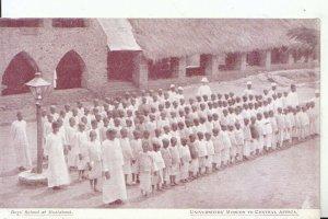 Africa Postcard - Tanzania - Boys School at Msalabani - Ref 15303A