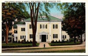 Massachusetts Lexington First Normal School In America Now Masonic Temple