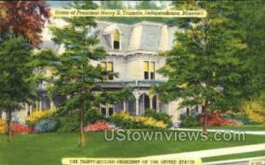 Harry Truman home Independence MO Unused