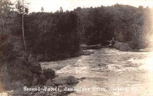 Niagara Wisconsin Menominee River Real Photo Antique Postcard K101191
