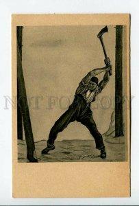 3177444 Lumberjack by Ferd. HODLER Vintage ART NOUVEAU 1910 PC