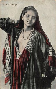 Yemen Aden Arab Girl Postcard