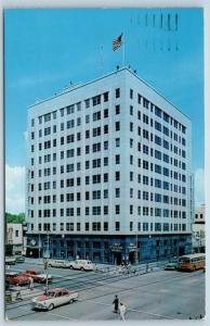 Postcard FL St Petersburg First Federal Bank Building Savings & Loan c1950s K17