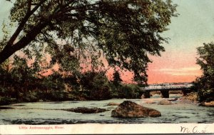 Maine View Along The Little Androscoggin River 1907