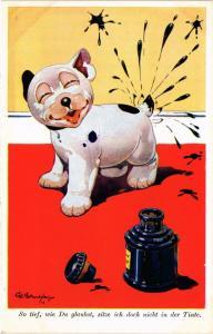 CPA Studdy BONZO dog No. 2552 SO TIEF, WIE DU GLAUBST…. (305817)