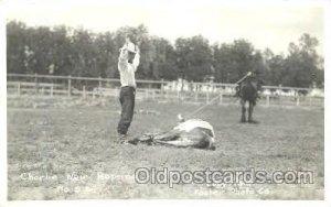 Charlie Weir Ropeing, Western Cowboy Unused