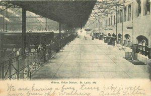 St Louis Missouri Midway Union Station #A1013 undivided 1906 Postcard 21-5847