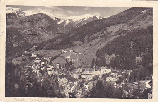 Austria Bad Gastein Totalansicht 1947 Real Photo